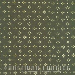 Hoffman Fabrics Me + You Hand Dyed Batiks Geo Dragonfly Slate