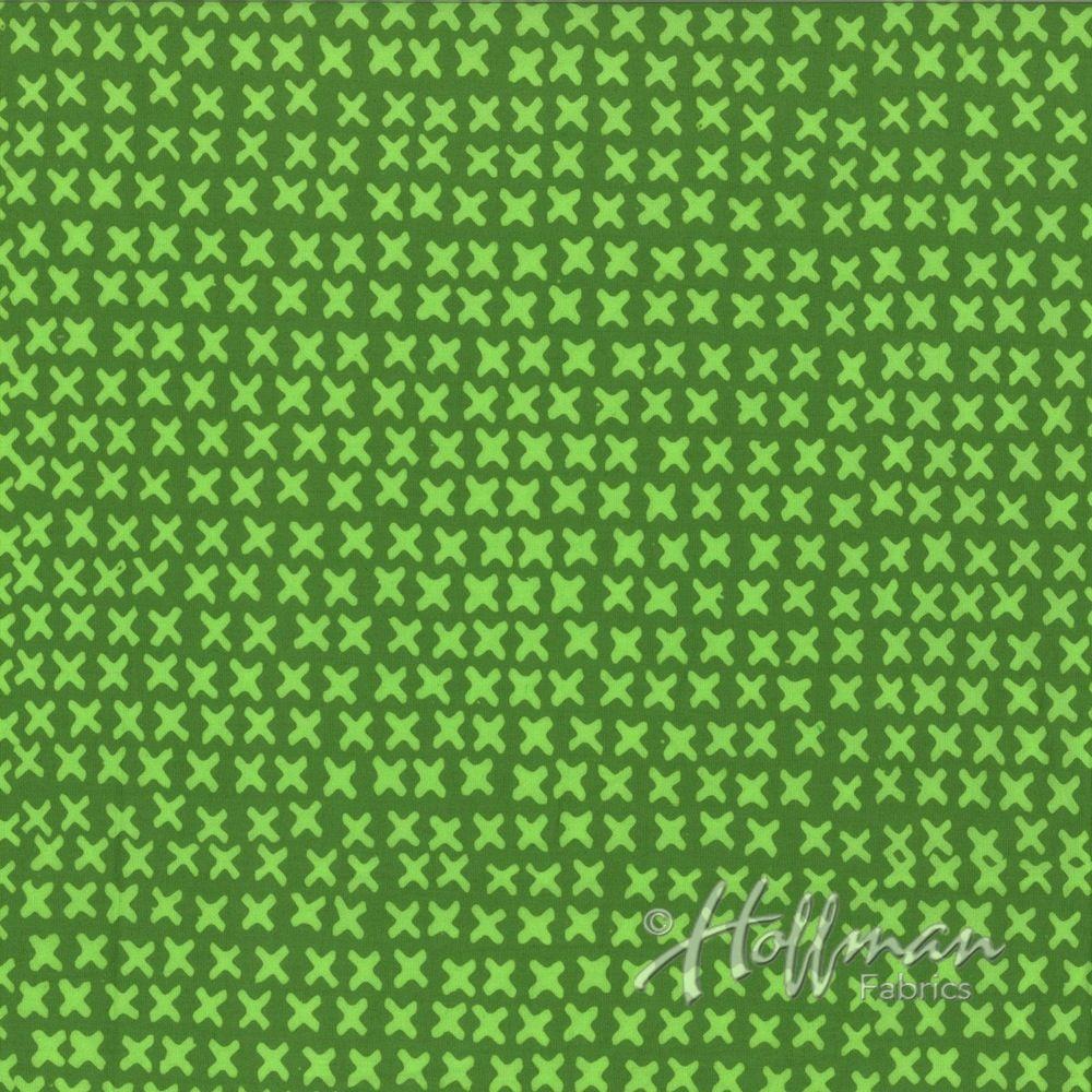 Hoffman Fabrics Hand Dyed Batiks Xs Fern