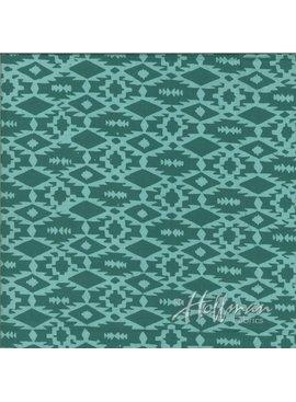Hoffman Fabrics Hand Dyed Batiks Southwestern Weave Teal