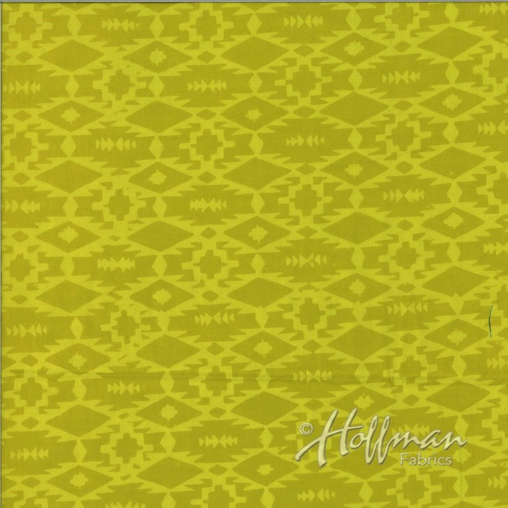 Hoffman Fabrics Hand Dyed Batiks Southwestern Weave Pineapple