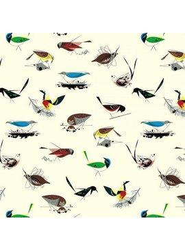 Birch Fabrics Charlie Harper's Western Birds Main