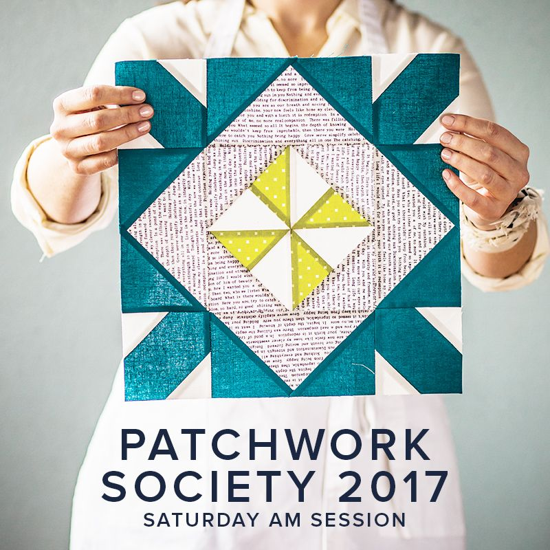 Modern Domestic CLASS IN SESSION Modern Domestic Patchwork Society Annual Membership, 2017, Saturday monthly, 10:30 - 12:30