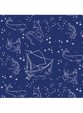 Birch Fabrics Organic Poplin Stars of the Sea