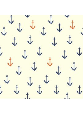 Birch Fabrics Organic Anchors Aweigh Knit