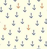 Birch Fabrics Organic Poplin Anchors Aweigh