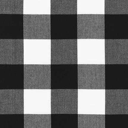 "Robert Kaufman Carolina Gingham 2"" Black"