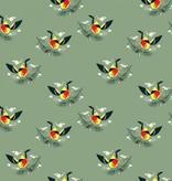 Birch Fabrics Charlie Harper's Western Birds Western Tanager