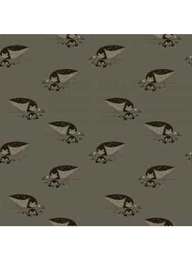Birch Fabrics Charlie Harper's Western Birds Burrowing Owl Canvas