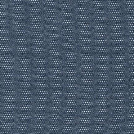 Robert Kaufman Cotton Chambray Pin Dots: Denim