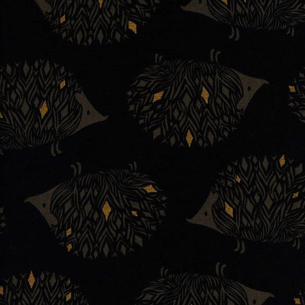 Cotton + Steel Sleep Tight by Sarah Watts: Prickles Black Canvas