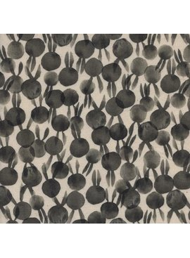 Cotton + Steel Sleep Tight by Sarah Watts: Bunbuns Neutral