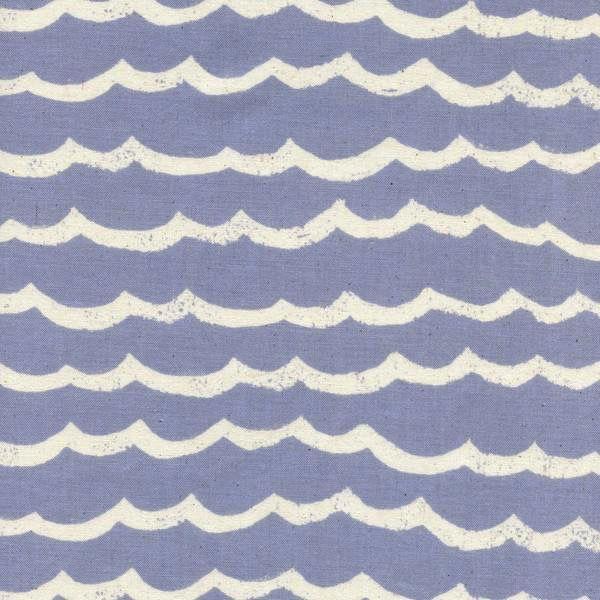 Cotton + Steel Kujira & Star by Rashida Coleman-Hale: Waves Fog