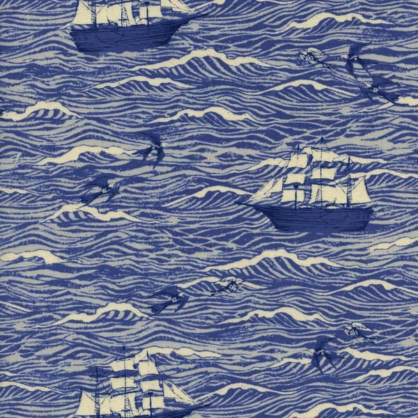 Cotton + Steel S.S. Bluebird by Cotton + Steel: Out To Sea Blue