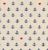 Cotton + Steel S.S. Bluebird by Cotton + Steel: You're My Anchor Natural