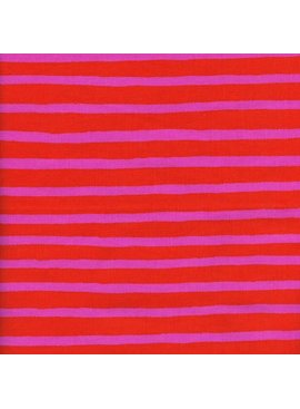 Cotton + Steel Wonderland by Rifle Paper Co: Cheshire Stripe Orange