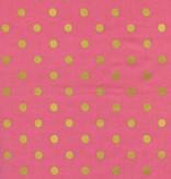 Cotton + Steel Wonderland by Rifle Paper Co: Caterpillar Dots Pink Metallic