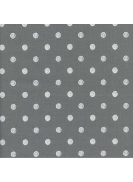 Cotton + Steel Wonderland by Rifle Paper Co: Caterpillar Dots Gray