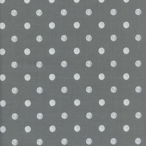 Cotton + Steel Wonderland by Rifle Paper Co: Caterpillar Dots Gray