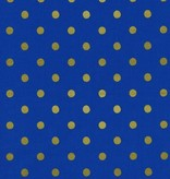Cotton + Steel Wonderland by Rifle Paper Co: Caterpillar Dots Cobalt Metallic