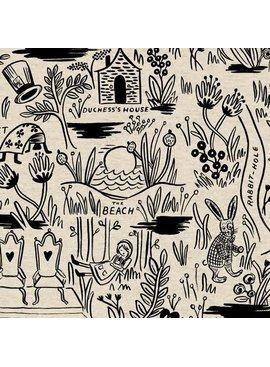 Cotton + Steel Wonderland by Rifle Paper Co: Magic Forest Natural Cotton/Linen Canvas