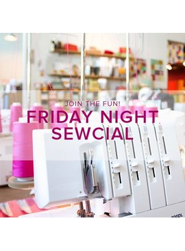Modern Domestic Friday Night Sewcial: Friday, March 3, 5-8 pm