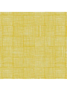 Andover Maker Maker Yellow Grid on Natural