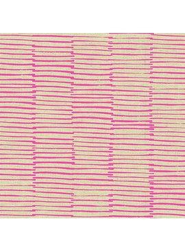 Andover Maker Maker Lines Pink on Natural