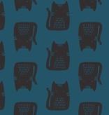 Andover Maker Maker Black Cats on Midnight