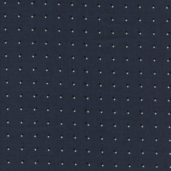 Cotton + Steel Black And White 2017 by Cotton + Steel: Double Dots - Dark Grey
