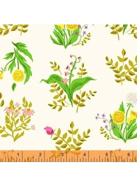 Windham Fabrics Sleeping Porch by Heather Ross Cotton Lawn Bouquet White