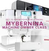 Modern Domestic CLASS FULL MyBERNINA: Machine Owner Class, Sundays, April 23, 30, May 7, 11 am - 1pm
