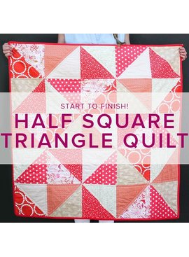 ONE SPOT LEFT! Learn to Quilt: Half Square Triangles, Tuesdays, April 25, May 2, 9, 16,  6-8:30 pm