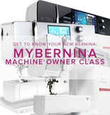 Modern Domestic CLASS FULL MyBERNINA: Machine Owner Class, Sundays, June 4, 11, 18, 11am - 1pm