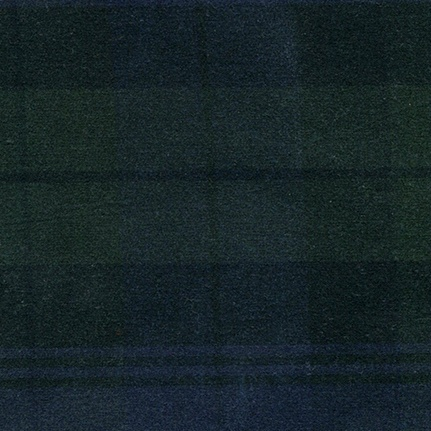 Carr Textiles Waxed Canvas Black Watch Plaid TexWax 6.75oz