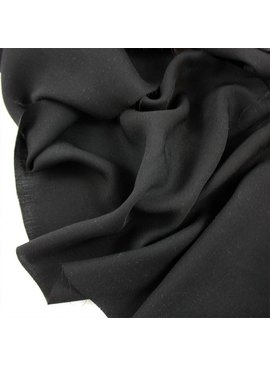 Exotic Silks Lightweight Black Rayon Twill