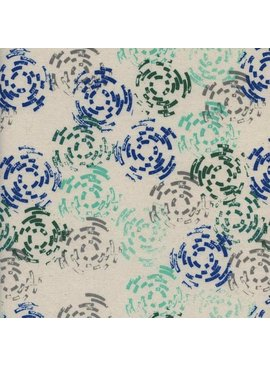 Cotton + Steel Raindrop by Rashida Coleman-Hale: Puddle Jump Sea