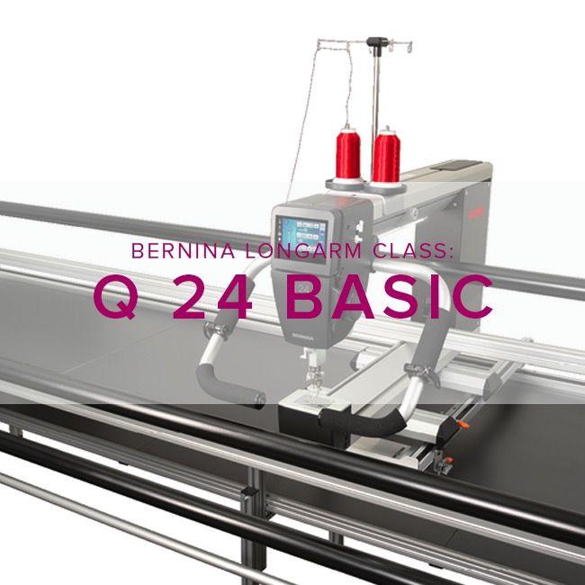 Modern Domestic Q 24 Longarm Basic, Wednesdays,  May 10 and 17, 1:30 pm - 4:00 pm