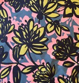 Elliot Berman Silk/Cotton Graphic Floral