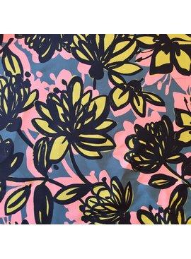 Elliot Berman Silk/Cotton Graphic Floral