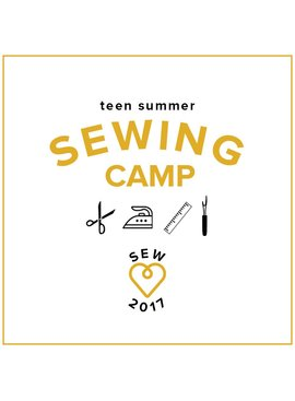 CAMP IN SESSION Teen Sewing: Fashion Camp! Monday-Thursday, July 17, 18, 19, 20, 2-5 pm