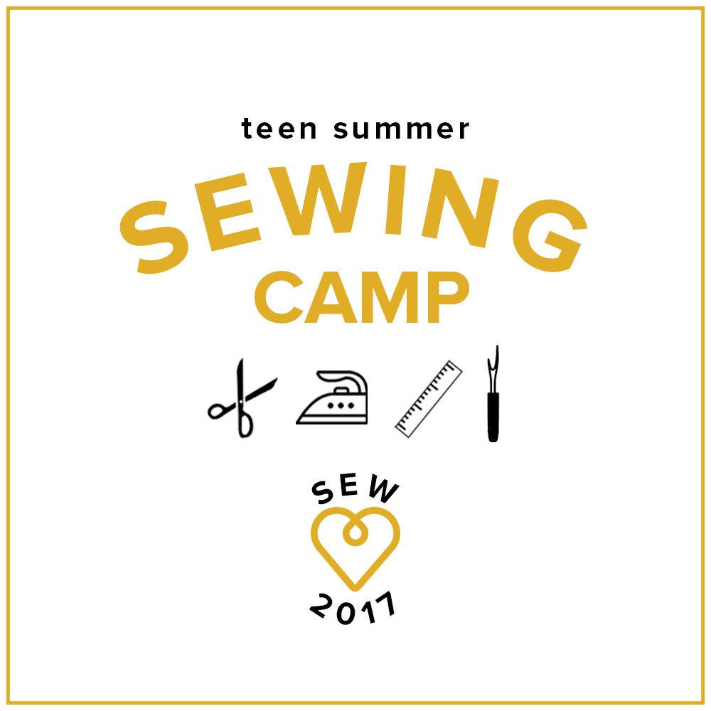 Teen Sewing: Fashion Camp! Monday-Thursday, July 17, 18, 19, 20, 2-5 pm