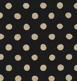 Robert Kaufman Sevenberry Canvas Natural Dots Black