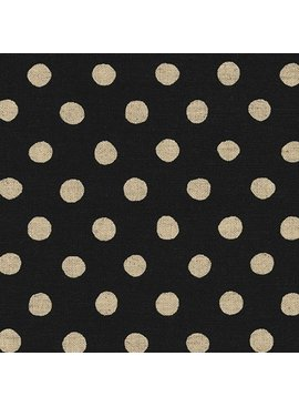 Robert Kaufman Sevenberry Canvas Natural Dots Black