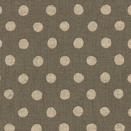 Robert Kaufman Sevenberry Canvas Natural Dots Grey