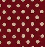 Robert Kaufman Sevenberry Canvas Natural Dots Red