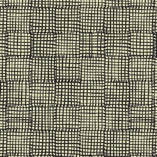 Andover Maker Maker Black Grid on Natural