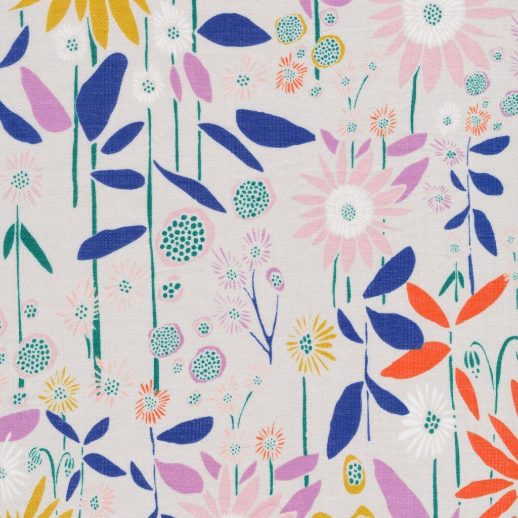"""Cloud 9 New from Leah Duncan, Floret, 100% Organic Cotton Batiste, 43""""/44"""" wide"""