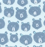 Cotton + Steel Cozy by Cotton + Steel: Teddy and the Bears Blue Brushed Twill