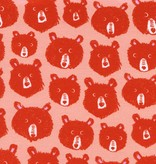 Cotton + Steel Cozy by Cotton + Steel: Teddy and the Bears Pink Brushed Twill