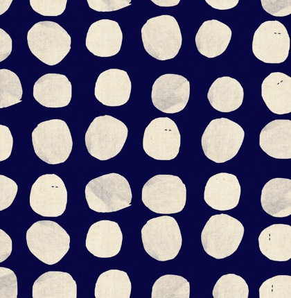Cotton + Steel PREORDER Sienna by Alexia Abegg: Pebbles Indigo